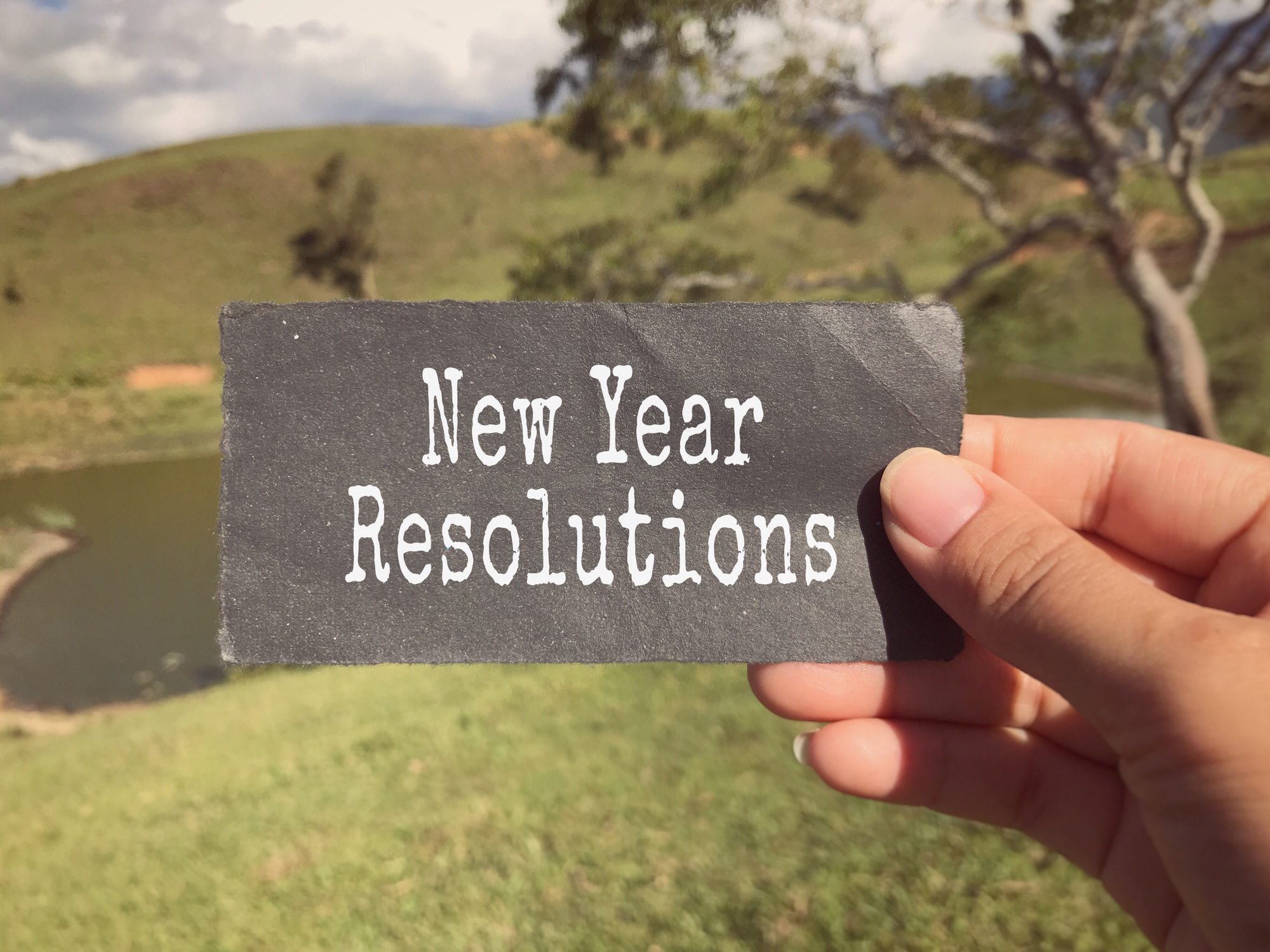 New Year Resolution concept.